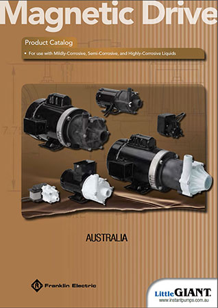 Little Giant Magnetic Drive Chemical pumps catalogue image